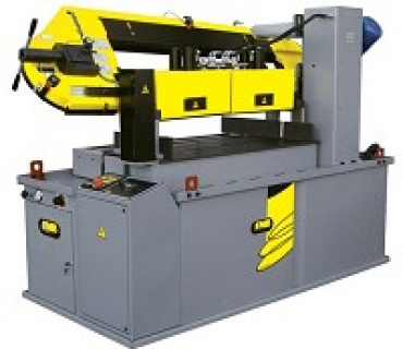 PLUTON + VHZ STEEL MESH CUTTING BAND SAW